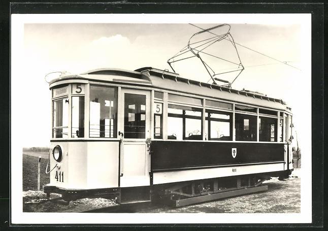 AK Halle, 100 Jahre Strassenbahn 1982, Triebwagen Nr. 411 0