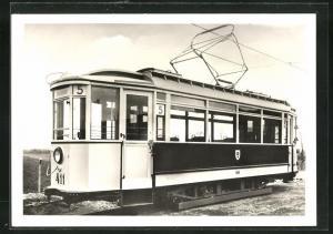 AK Halle, 100 Jahre Strassenbahn 1982, Triebwagen Nr. 411