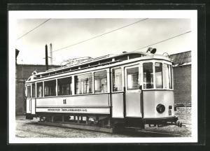 AK Halle, 100 Jahre Strassenbahn 1982, Triebwagen Nr. 11 der Merseburger Überlandbahnen AG