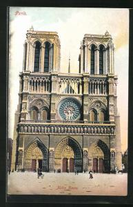 AK Paris, Cathédrale Notre-Dame, Haupteingang