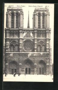 AK Paris, Cathédrale Notre-Dame, Hauptportal