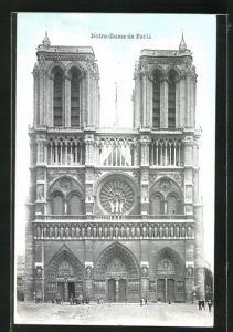 AK Paris, Cathédrale Notre-Dame mit Hauptportal