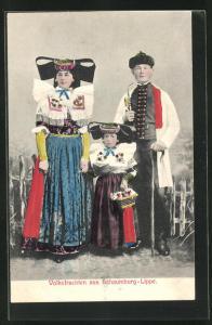 AK Familie in Volkstracht Schaumburg-Lippe