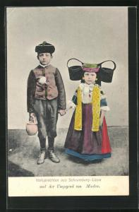 AK Kinder in Tracht Schaumburg-Lippe