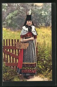 AK Frau in Tracht Schaumburg-Lippe