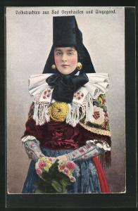 AK junge Dame in Tracht Schaumburg-Lippe
