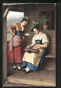 AK Miesbach, Frauen in bayerische Tracht