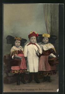 AK Bad Oeynhausen, Kinder in Tracht Schaumburg-Lippe