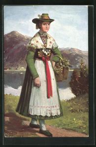 AK Schliersee, Frau in bayerische Tracht