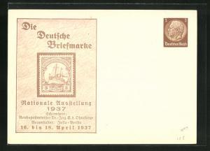 AK Berlin, Nationale Ausstellung Die Deutsche Briefmarke 1937, Ganzsache