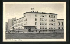 AK Krakau-Krakow,  auf der Deutschen Schule