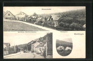 AK Weidlingau, Wienerstrasse, Mühlberg, Steinbruchgasse, Waldgasse