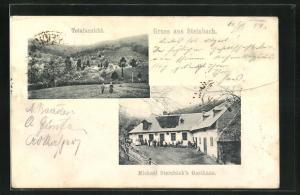 AK Steinbach, Michael Stienböck`s Gasthaus, Totalansicht
