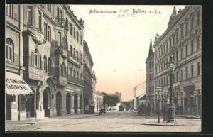 AK Wien, Billrothstrasse mit Färberei von Josef Smetana