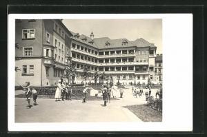 Foto-AK Wien, Kinderübernahmestelle, Lustkandlgasse 50, Heim