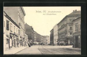 AK Wien, Nussdorferstrasse mit Schuberthaus