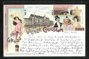 Lithographie Wien, Colosseum, Varieté