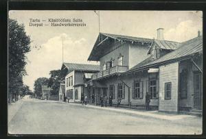 AK Tart / Dorpat, Haus vom Handwerkerverein