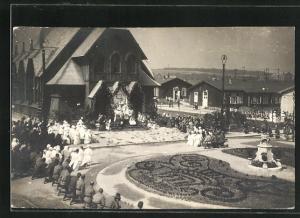 Foto-AK Wien-Simmring, Gottesdienst im Kriegerspital