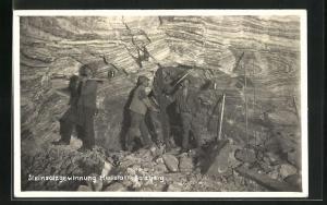 AK Hallstatt-Salzberg, Steinsalzgewinnung