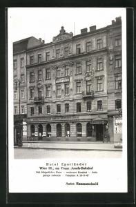 AK Wien, Hotel Egerländer, Am Franz Josefs-Bahnhof
