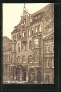 AK Wien, Hotel & Restaurant Stalehner, Jörgerstrasse 22