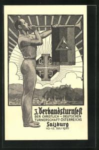 AK Salzburg, 3. Verbandsturnfest 1930 der Christlich-Deutschen Turnerschaft Österreichs