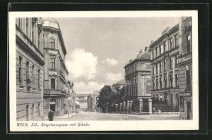 AK Wien, Singrienergasse mit Schule