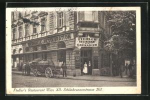 AK Wien, Fiedler`s Restaurant, Schönbrunnerstrasse 263