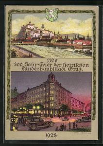 AK Graz, m 800 Jahrfeier der steirischen Landeshauptstadt 1128 - 1928