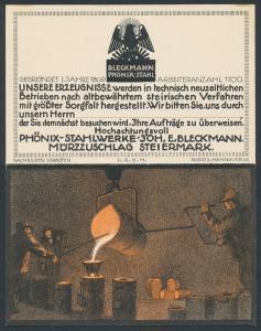 Klapp-AK Mürzzuschlag, Bleckmann Phönix-Stahl, Giesserei