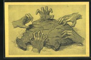 AK Räuberhände greifen nach Ungarn, Propaganda