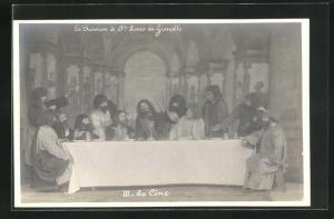 AK La Passion à St. Louis de Grenoble, III. La Cène, Passionsspiele, Abendmahl