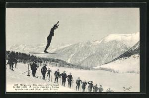 AK Briancon, Concours International de Ski 1907, F. Iselin, Skisprung
