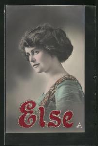 AK Namenstag Else, Bild einer jungen Frau