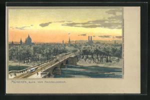 Künstler-AK Zeno Diemer: München, Blick vom Maximilianeum