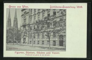 AK Wien, Bildhauerei Ambros Bei, Währingerstrasse 6 und 8 nahe der Votiv-Kirche
