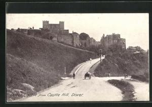 AK Dover, Dover Castle from Castle Hill