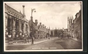 AK Oxford, Magdalen College, Strassenansicht