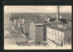 AK Port Said, General View, Häuser und Blick aufs Meer