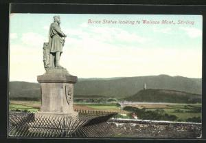 AK Stirling, Bruce Statue looking to Wallace Mont.