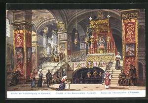 AK Nazareth, Inneres in der Kirche der Verkündigung
