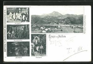 AK Hallein, Ortsansicht und Ansichten vom Salzbergwerk Dürrenberg