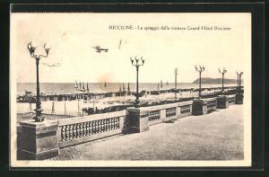 AK Riccione, La spiaggia dalla terrazza Grand Hotel Riccione