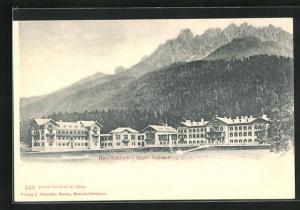AK Neu-Toblach, Blick zum Hotel