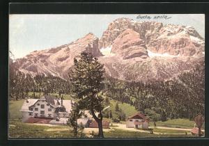 AK Plätzwiese, Hotel Dürrenstein mit Hohe Gaisl