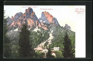 AK Tre Croci, Ansicht mit Monte Cristallo und Piz Popena