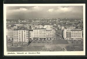 AK Gotenhafen, Teilansicht mit Scharnhorst-Platz