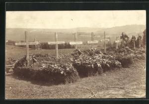 Foto-AK Brzezany, Friedhof 01.07.1917