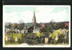 AK Doncaster, The cemetery, Friedhof mit Kirche